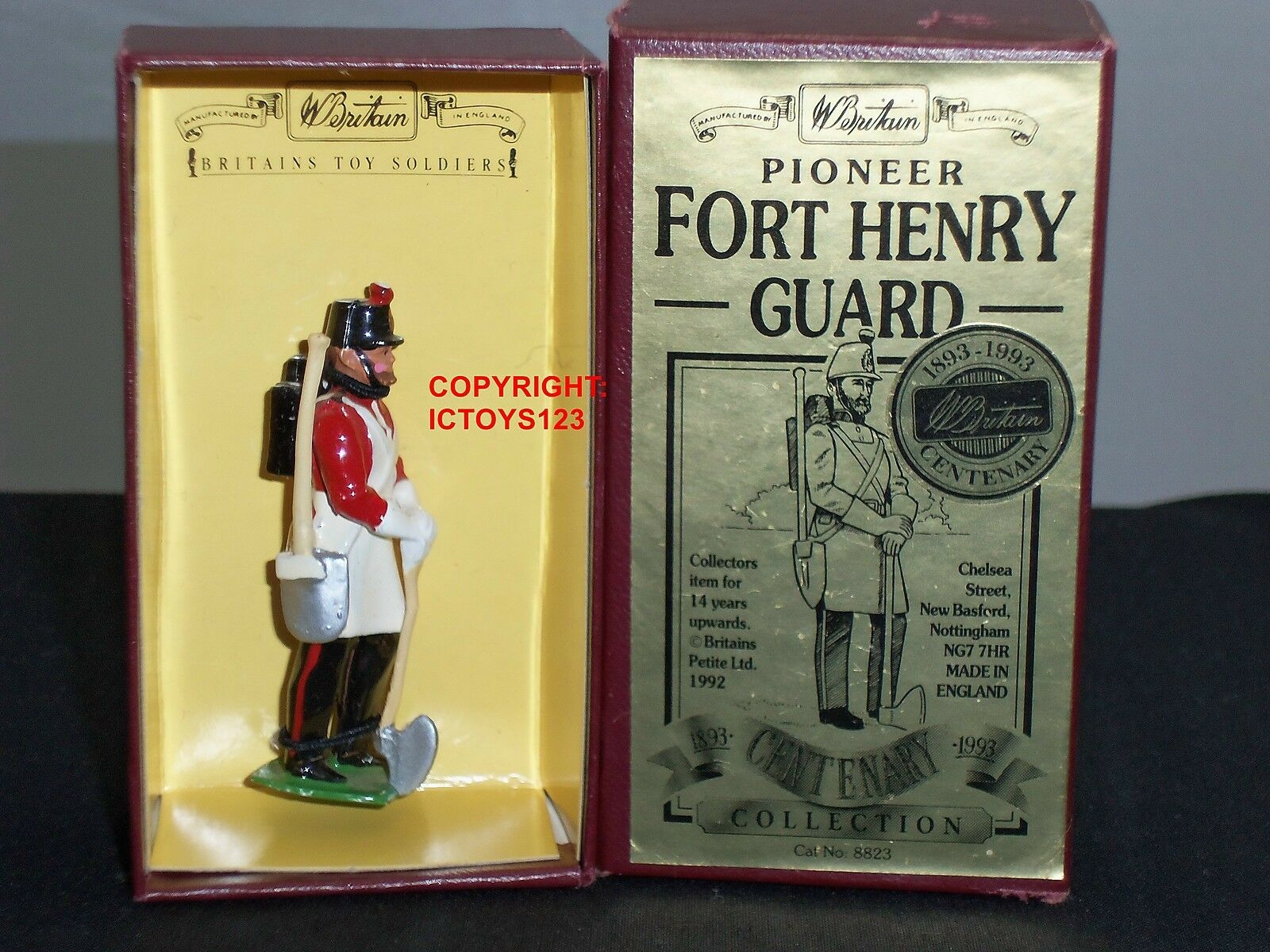 BRITAINS 8823 PIONEER FORT HENRY GUARD CENTENARY METAL TOY SOLDIER FIGURE