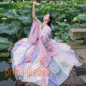 5-Pcs-Set-Women-039-s-Dress-Hanfu-3-Pcs-Tops-Skirt-Coat-Ribbon-Ancient-Costume-Dress
