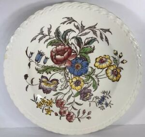 Image is loading Vintage-Vernon-Kilns-MAY-FLOWER-Hand-Painted-Dinnerware- & Vintage Vernon Kilns MAY FLOWER Hand Painted Dinnerware Collection ...