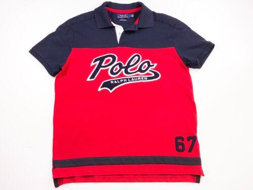 Polo Shirt Ralph Red Custom Slim Navy Fit Lauren And x7Uv0q