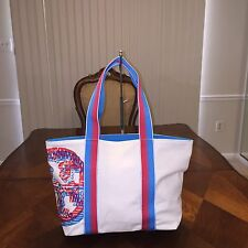 NWT Tory Burch Squiggle Logo Small Beach Tote in Squiggle Multi