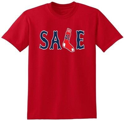 "Chris Sale Boston Red Sox /""SALE/"" T-shirt Shirt or Long Sleeve"