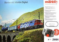 Märklin H0 29484 Digital-Startpackung Schweizer Güterzug mit Mobile Station Neu