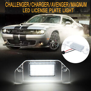 18-SMD-LED-Rear-License-Plate-Light-For-Dodge-Charger-Challenger-for