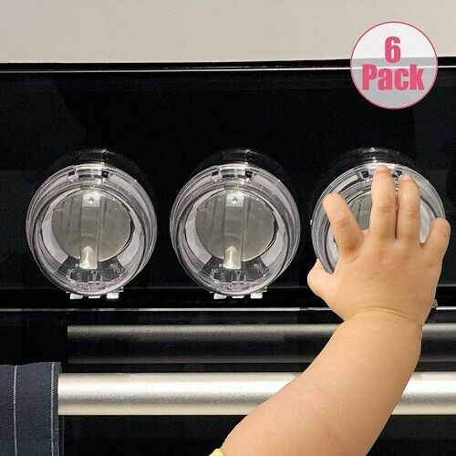 Stove Knob Covers for Child Safety Kitchen Safety Guards for Kids Baby Toddler Clear Oven and Gas Knob Cover by Heart of Tafiti 5 Pack