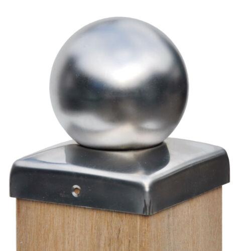 va-viti 101 mm Cappuccio Pali recinzione cappuccio acciaio INOX con sfera 10x10 cm incl