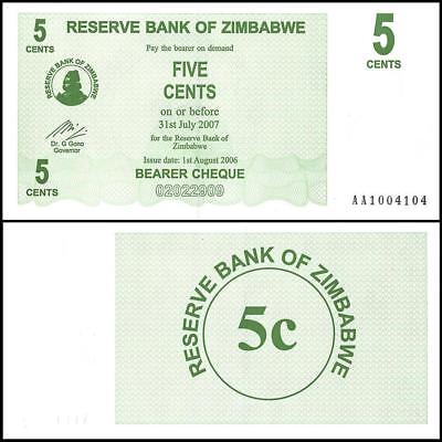 2006 Zimbabwe 200000 Dollar Bearer Cheque Bank Note-UNC Condition-18-266