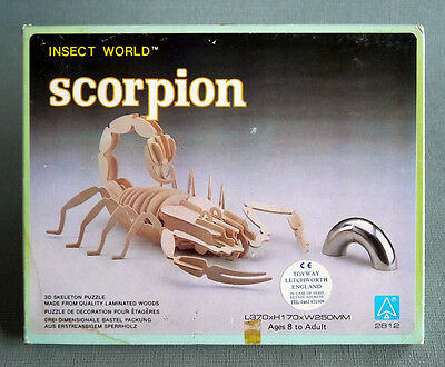 3D Skeleton Wooden Puzzle Insect World Scorpion Laminated Wood L370xH170xW250mm