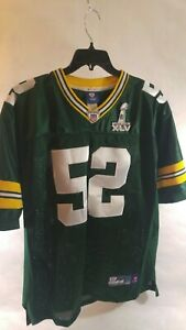 Rare-Green-Bay-Packers-Football-Jersey-Superbowl-XLV-52-Clay-Matthews
