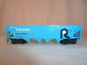 Bachmann-Rock-Island-Line-Quad-Hopper-ND-Load-Model-Train-Car-CRI-amp-P-Railroad