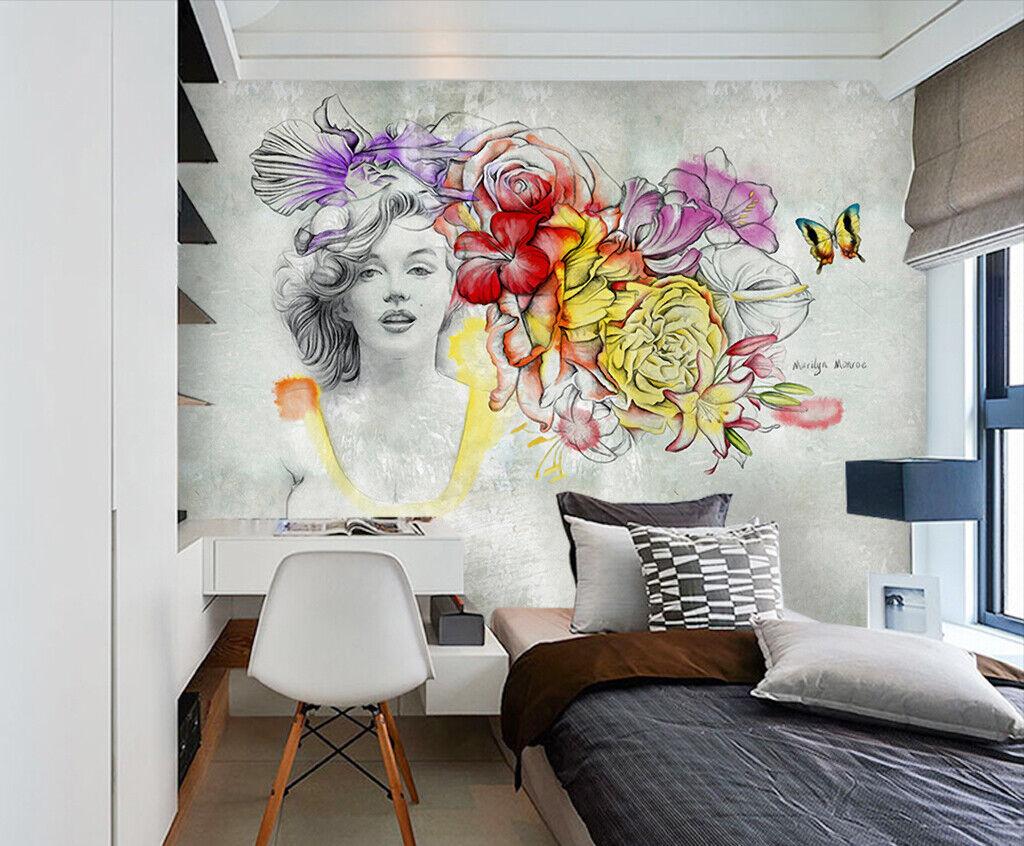 3D Kunst Monroe M380 Tapete Wandbild Selbstklebend Abnehmbare Aufkleber Amy