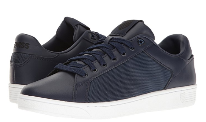 K SWISS 05353 445 CLEAN COURT CMF Mn's (M) Navy Black Synthetic Casual shoes