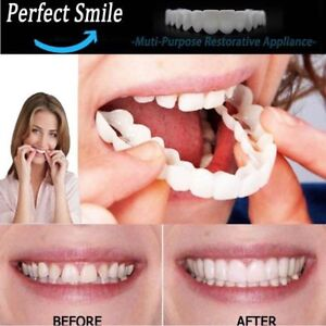Perfect Smile Instant Teeth Cosmetic Veneers Snap On Comfort Covers Fix One Size 192543730596