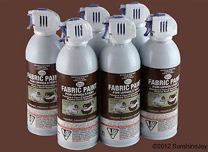 Upholstery Fabric Spray Paint 6 Pack Brown Car Auto Rv Simply Spray