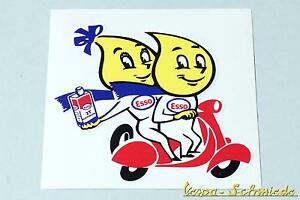 "Automobilia Aufkleber ""esso Oil Drop Couple"" Öl Scooter Roller Vespa Retro Oldtimer Sticker"