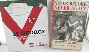 ST-GEORGE-DRAGONS-2-EXCELLENT-LARGE-RUGBY-LEAGUE-BOOKS