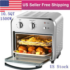 105qt Convection Air Fryer Dehydrator Rotisserie Oven Oilless 4 Slice Toaster