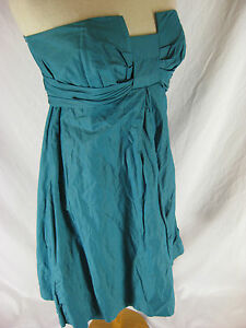 Lisa-Ho-size-12-M-Turquoise-Teal-Designer-Cocktail-Dress-Stunning