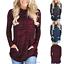 Women-039-s-Long-Sleeve-Hoodie-Sweatshirt-Sweater-Hooded-Jumper-Coat-Pullover-Tops thumbnail 5