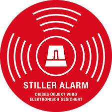 1x STILLER ALARM ABUS Aufkleber Funk Alarmanlage Dummy Einbruchschutz Sicherheit