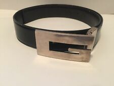 Vintage Gucci Reversible Belt With Large Silver G Buckle 80/32