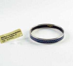 8aa2a46f147 Hermes Enamel Quadrige Thin   Fin Bangle Bracelet Size 70 - Color 10 ...