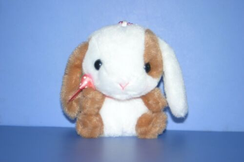 Pote Usa Loppy Rabbit White&Brown Maburin Polka dot Red ribbon Plush Doll 4.4""