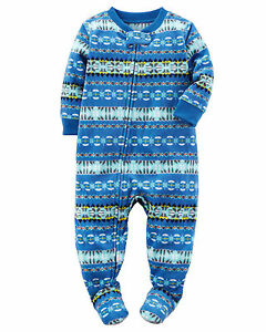 62bda6bfd NWT ☀FOOTED FLEECE☀ CARTER S Boys FAIR ISLE Pajamas YOU PICK 3T 4T ...