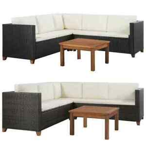 Image Is Loading Vidaxl Garden Sofa Set 15 Pieces Poly Rattan