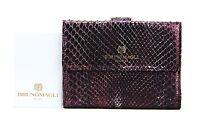 Bruno Magli Serena Purple Luxury 8cc + Wallet 100% Python Skin Italy 30