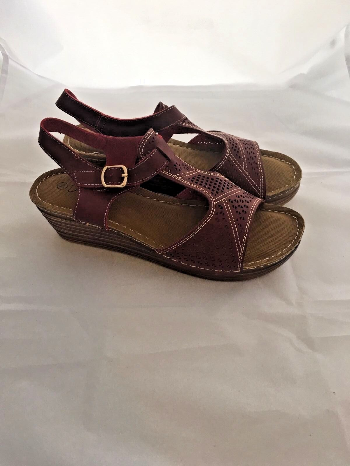 Man/Woman Forever women's sandal wine size 10 material High-quality The highest quality material 10 Easy life 1138e8