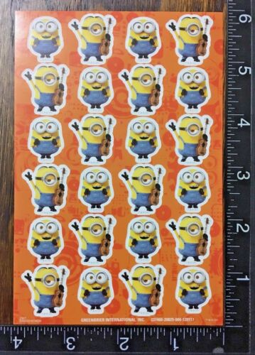 TWO SHEETS BEAUTIFUL STICKERS #GRU7 MINIONS DESPICABLE ME BY UNIVERSAL STUDIOS