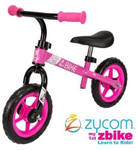 "Pink Girls Balance Kids Bike Zycom My 1st Bike 10/"" Wheels Age 18-36months"