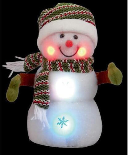 23 cm DEL Couleur Changeante Noël Bonhomme de Neige Noël décoration lumières de Noël