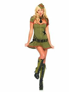 LEG-AVENUE-ARMY-PRIVATE-PIN-UP-ADULT-HALLOWEEN-COSTUME-SIZE-LARGE