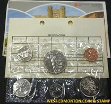 1983 UNCIRCULATED PROOF LIKE SET - CANADIAN 6-COIN SET - ENVELOPE & CERTIFICATE