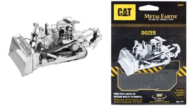 Motoniveladora Dozer Cat Kit Metal 3D Edición Plata Metal Earth 1425