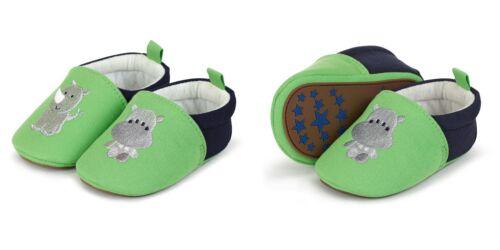 Sterntaler Baby Krabbelschuhe Nilpferd//Nashorn 2301853 Neu Sommergrün