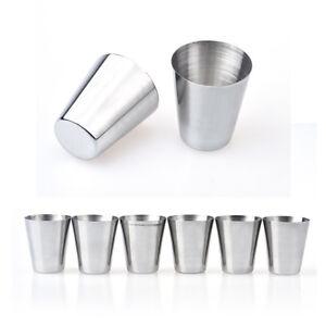 57790218453 Details about 6PCS Stainless Drinking Beer Cup Mug Coffee Tea Milk Tumbler  Camping Travel Mugs