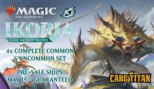 Magic MTG Throne of Eldraine CARDTITAN Complete Common /& Uncommon Set x4