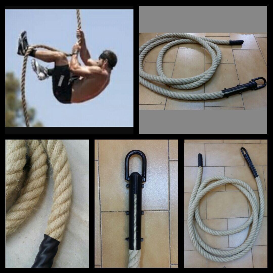 Cuerda Cuerda Cuerda bombero trepa 40mm x 9 metros soga maroma cañamo esparto crossfit escalar 1b1346