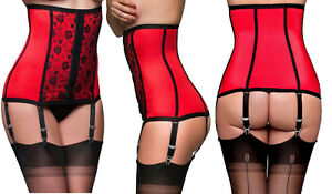a099bc47b09 Image is loading Premier-Lingerie-Red-Lycra-Shapewear-Waist-Cincher-with-