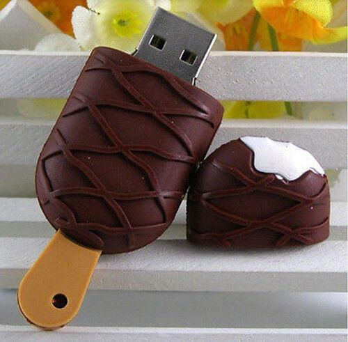 Cute Cool ice cream model USB 2.0 Flash Drive Full Memory Stick Pen Thumb 16G