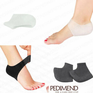 PEDIMEND-Silicone-Gel-Heel-Socks-for-Cracked-Heel-BLACK-amp-WHITE-4-PCS-UK
