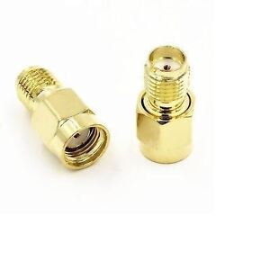 RP-SMA-Male-Plug-to-SMA-Female-50-Adapter-Coaxial-Connector-UK-Seller