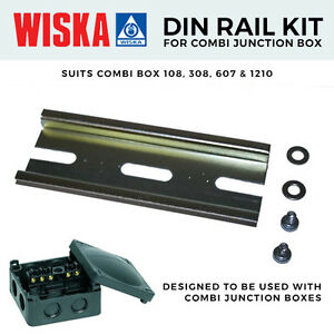 1210 Boxes 607 Wiska Combi Junction box IP66 Din Rail Kit to suit 108 308
