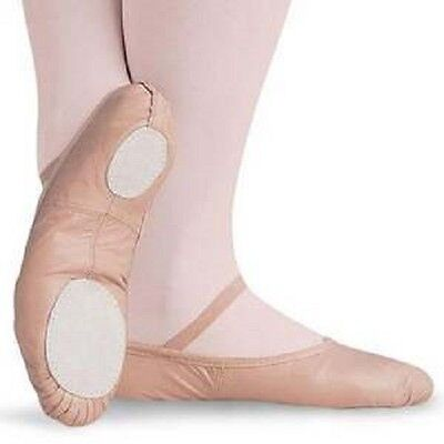 NEW Capezio Balera Pink Split Sole Leather Ballet Shoes Toddler, Child or Adult