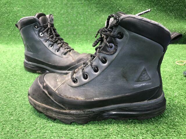 Nike Air Max Conquer ACG Boots Black Dark Grey 472493 010 Sz 8 Water Shield