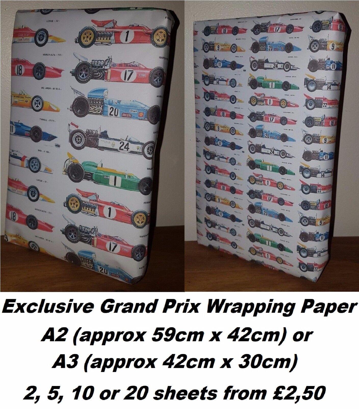 GRAND Prix carta da regalo, regalo, regalo, A1 A2A3, auto Ferrari McLaren Williams Festa di Compleanno 7ca392