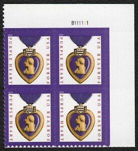 #5419 Violeta Corazón, Placa Bloque [B111111 Ur ] Nuevo Cualquier 5=
